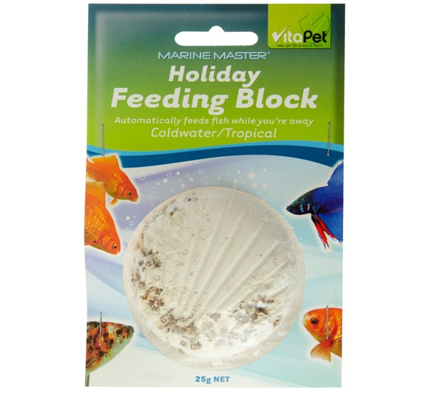 Holiday Fish Feeding Block