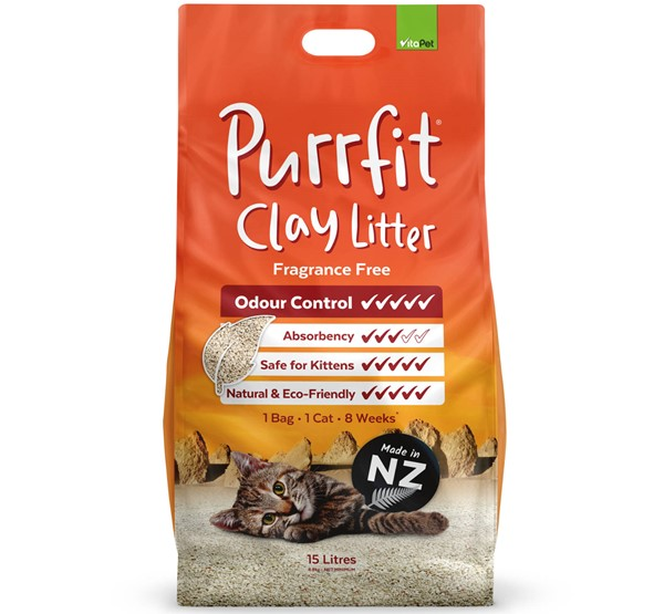 Cat Litter - Purrfit Clay 15L