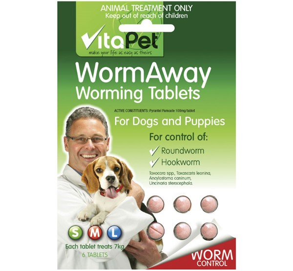 WormAway Worming Tablets for Dogs and Puppies