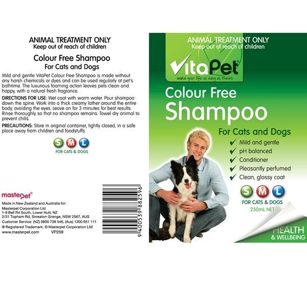 Colour Free Shampoo - Label