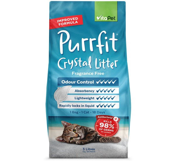 Cat Litter - Purrfit Crystal 3L