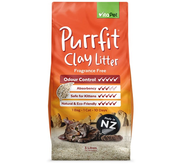 Cat Litter - Purrfit Clay 3L